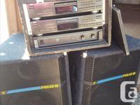 Professional DJ Sound System: includes two JVC XL-V282
