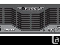 Crown amp specs: 560W @ 2-ohm stereo (per channel) 450W