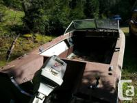 Boat as pictured. Motor ran when project was started a