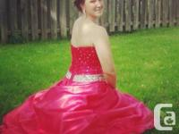 Pink Prom Dress! Dress is marked as a size 8 but fit a