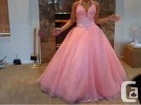 I'm selling my prom dress, it is light pink and