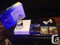 Selling my white ps4 500 gb. I initially got the fate