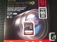Offering an all new Sandisk Extreme Pro 32GB SDHC UHS-I