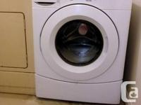 I have a Whirlpool front loading washer, just one year
