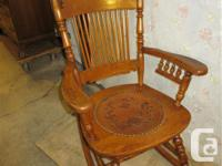 "THIS OLD ROCKER IS 41"" HIGH. IT IS 24"" THROUGHOUT THE"