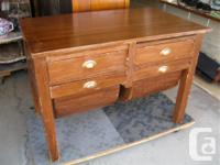 """THIS EARLY 1900'S BAKERS TABLE IS 42"""" WIDE, 251/2"""""""