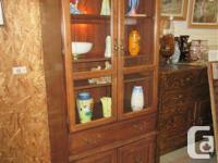 """THIS CHINA CLOSET IS 32"""" WIDE, 18"""" DEEP & & 78"""" HIGH."""