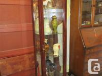 "THIS CURIO IS 14"" DEEP, 17"" WIDE & & 70"" HIGH. IT HAS A"