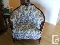 Causeuse et chaise, style provincial français,
