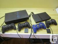 Playstation PS2 gaming consoles. One original, one