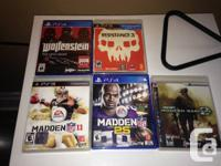-- PS4--.  Madden NFL 25 - $25. Wolfenstein: The New
