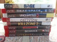PS3 Games God of War Collection $8 Bioshock $8 Metal