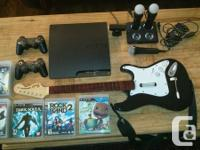 Playstation 3, 2 controllers, Relocate and Rock Band