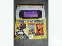 Handheld PSP-3000 Black Gaming System, Includes Little