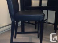 Beautiful 7x7, 3 foot tall table. 4 leather chairs. In