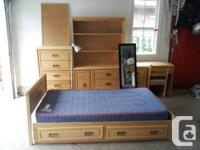 Solid hardwood furniture in excellent health condition