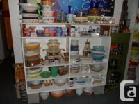 I am selling: Pyrex, Fire-King, Glasbake, Melmac, Spode