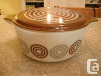 """Pyrex """"Cosmopolitan"""" Promotional Casserole with"""