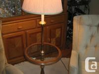 Qty 2 Floor Lamps.... with glass table built in $29