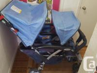 Foundations quad stroller. Always been stored inside,