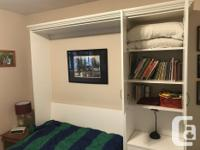 Custom made by Murphy Beds Canada.Includes shelves,