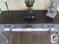 FRESHLY REFINISHED ,THIS SOLID OAK PIECE HAS CABRIOLE