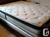 Queen Sized Simmons Beautyrest pillow top mattress and