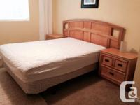 Solid wood bedroom set - Queen bed with headboard