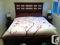 Entire bedroom suite for sale. Queen size bed frame
