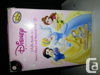 A collection of princess books. Has 3 e-bookses fit.