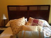 Barely used queen size Sealy Merlot box spring and