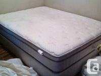 I am selling my queen size serta mattress and box