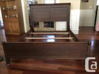 Queen Sleigh Bed Frame made by Durham Furniture in