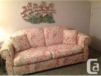 """Comfy QUEEN SOFA BED that is in """"as new"""" condition."""