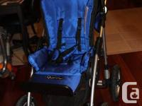 Blue Quinny Freestle stroller, two years old but really