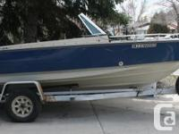 SELLING A 1985 LUND FIBERGLASS FISH AND SKI BOAT APPROX