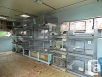 I HAVE 6 WIRE RABBIT CAGES FOR SALE. THEY ALL HAVE