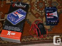 A radial engineering X amp driver box. I used this for