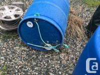 Rain Barrels All with two taps and 4 in screened fill