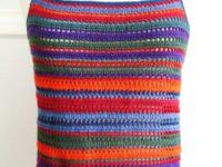 Rainbow Color Crochet Tank Top / Sleeveless / Cami -
