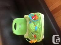 Good condition. Highchair has height adjustments and