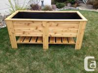 This planter is a well made, raised garden planter made