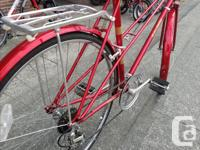 This here is a used Raleight Sprite cruising bike. It's