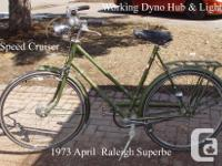Raleigh Superbe 3 Speed Cruiser 1973 $58 Very Good Cond