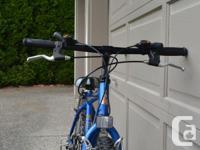 "Raleigh Urban Boys bike. 20"" wheels. Shimano 15 gears,"