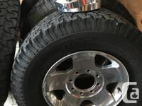 4 - 17inch Ram 2500 rims & used BFG's all terrians with