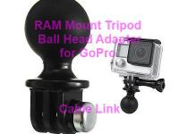 Portable RAM Mount Tripod Ball Head Adapter For GoPro