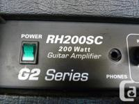 Randall RH200SC G2 Series 200 watt guitar amp head,