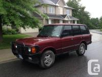 AVAILABLE.  ! 989 Range Rover Land Rover. Vehicle has