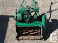 This reel lawnmower is solid. It has 6 blades with lots